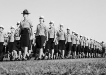Final Drill for Female Marines