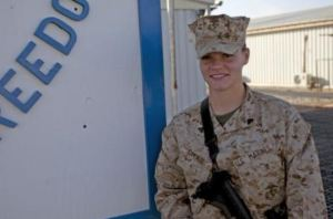 """Corporal Sasha Savage, a supply noncommissioned officer with Regimental Combat Team 7, has helped fill an important role by maintaining complete, accurate records of supply purchases made by subordinate units. Savage, a 23-year-old native of Beaverton, Mich., originally deployed with Marine Air Ground Task Force Support Company, Reset and Reconstitution Operational Group, but was moved to RCT-7 when a shortfall was identified by the RCT. """"When she came in, she was rather quiet about things,"""" said 1st Lt. Douglas Turner, the supply officer with RCT-7 and a 26-year-old native of Columbus, Ohio. """"Her path of leadership now is leading her peers, leading by example. She's actually trying to be the best NCO in the shop, and Marines are following her because of it."""""""