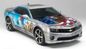 GM Military Tribute Camero was donated by General Motors and auctioned aAll the proceeds went to Achilles Freedom Team of Wounded Veterans