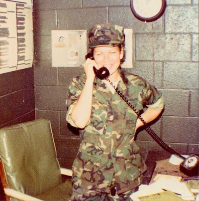 """Sgt Corrina Martell, MCAS Kaneohe Bay, Hawaii 1981"""