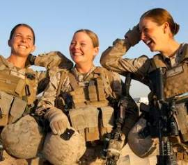 Female Marines in Afghanistan