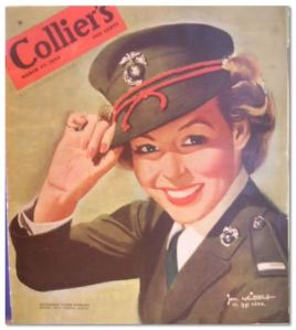 E. Louise Stewart as she appeared in Colliers Magazine in 1943