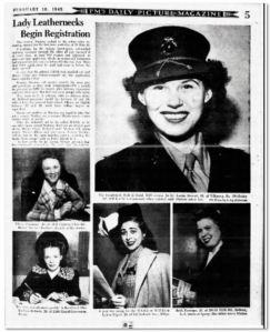 Lady Leathernecks Begin Registration New York Post 1943