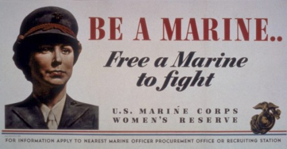 'Be A Marine...Free A Marine To Fight'