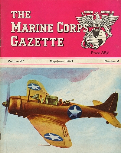 Marine Corps Gazette 1943 05-06 Original cover for this story
