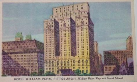 Postcard of the Penn Hotel 1943
