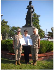 PFC Kelly, Linda Priest USMC Capt (ret), PFC Ioane