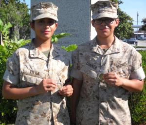 Molly Marine Presentation O Co 4 June 2014 PFC Beatriz Villa, Plt 4018, Jacksonville, NC; PFC Crystal D. Conner,  Plt 4019, Brownsville, TX