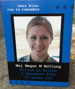 Remembering Maj Meagan McClung on the Blue Mile at MCM15